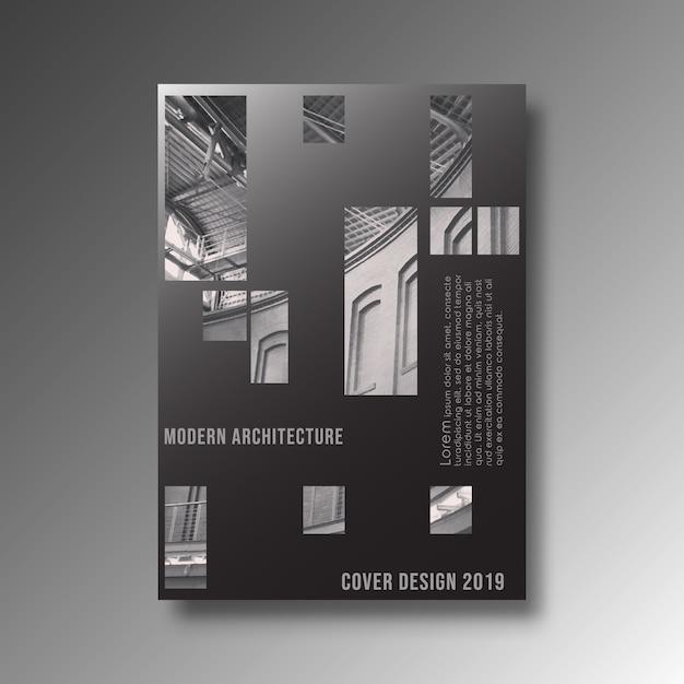 Design de fond d'architecture moderne pour la bannière, produits d'impression, flyer, affiche Vecteur Premium