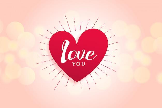 Design de fond belle coeur d'amour Vecteur gratuit