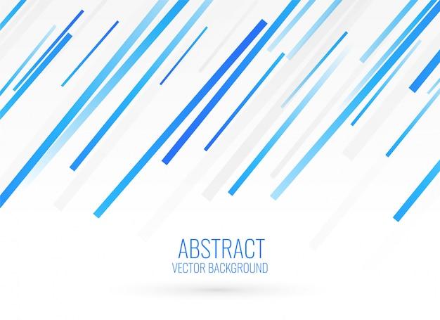 Design De Fond Bleu Rayures Diagonales Vecteur gratuit