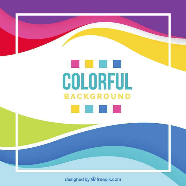 Design de fond coloré Vecteur gratuit