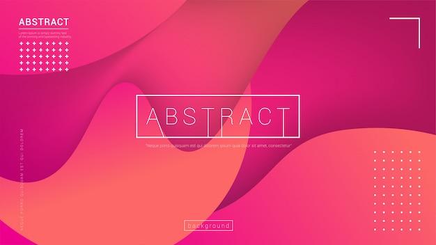 Design de fond de couleur liquide. composition de formes de gradient fluide. contexte moderne Vecteur Premium