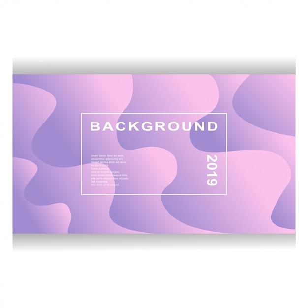 Design De Fond De Couleur Liquide. Composition De Formes De Gradient Fluide Vecteur Premium