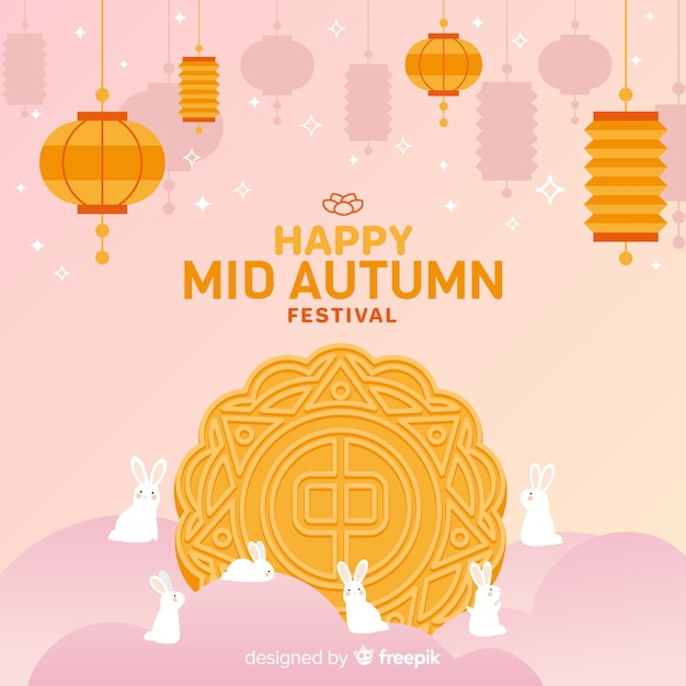 Design de fond de festival automne moyen Vecteur gratuit