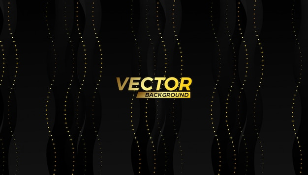 Design de fond flux or vector demi-trait Vecteur Premium