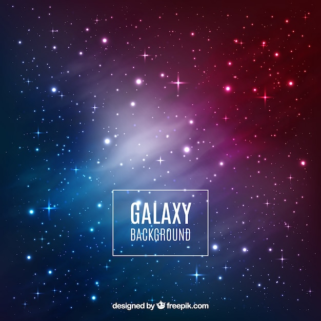 Design de fond galaxy Vecteur gratuit