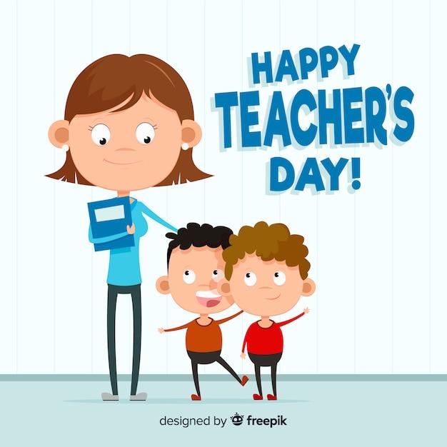 Design de fond de la journée mondiale des enseignants Vecteur gratuit