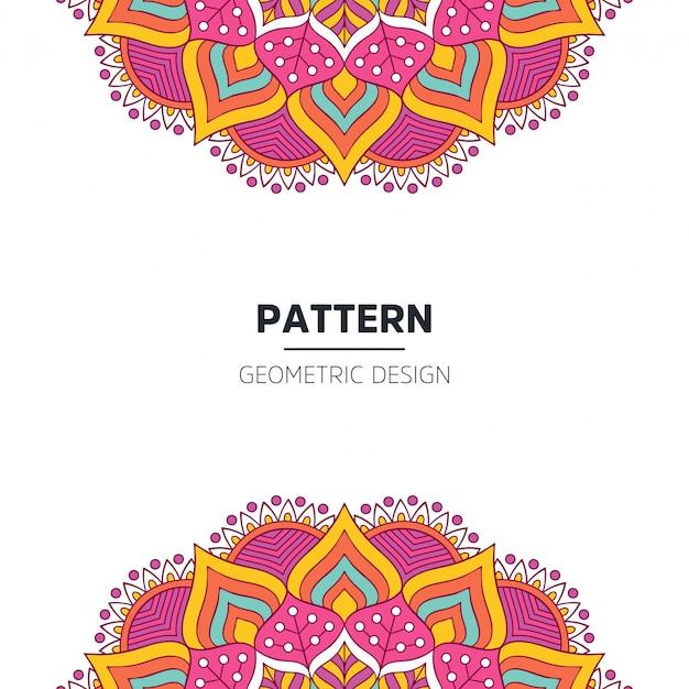 Design De Fond Mandala Vecteur gratuit