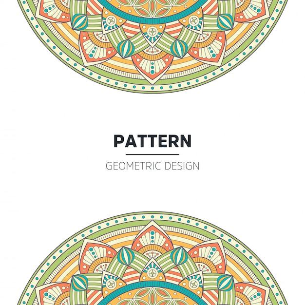 Design de fond de mandala Vecteur gratuit