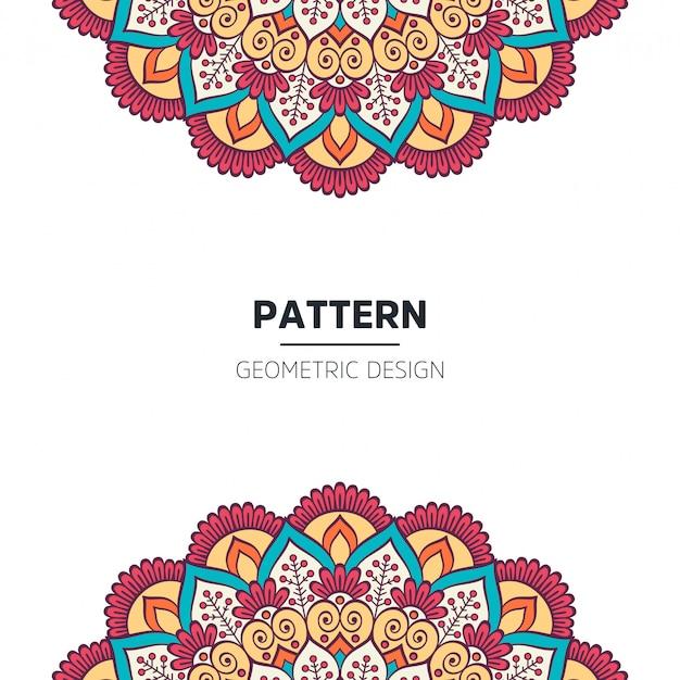Design de fond de mandala Vecteur Premium