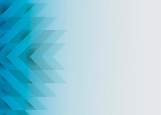 Design De Fond Moderne 3d Bleu Vecteur gratuit