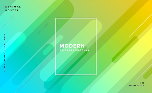 Design De Fond Moderne De Couleurs Jaune Bleu Vif Vecteur gratuit