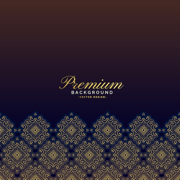 Design de fond premium luxe vintage Vecteur gratuit