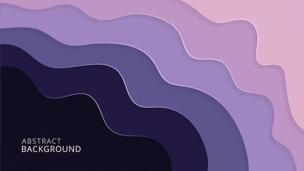 Design de fond violet abstrait papercut élégant Vecteur Premium