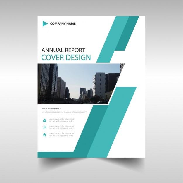 Design Green Annuel Modèle De Couverture Rapport De Livre