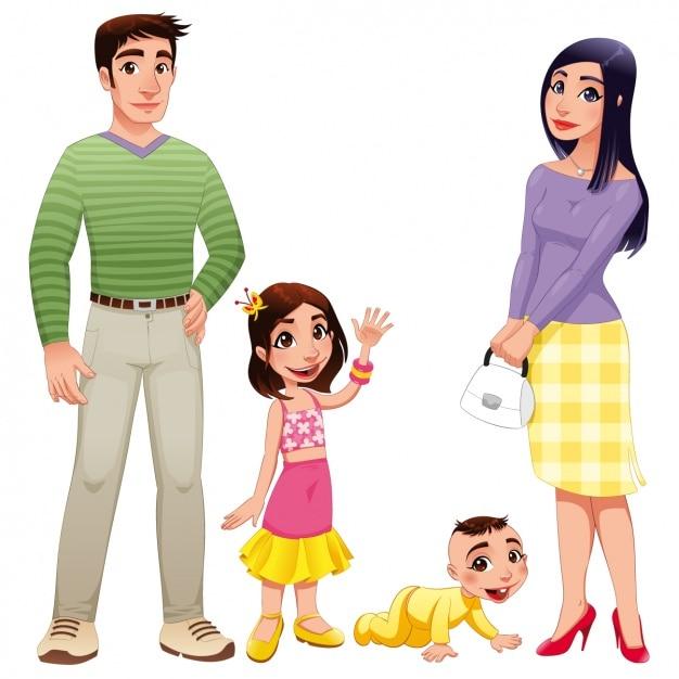 design happy family t l charger des vecteurs gratuitement. Black Bedroom Furniture Sets. Home Design Ideas