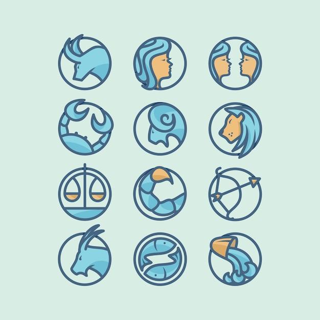 Design icône horoscope Vecteur gratuit