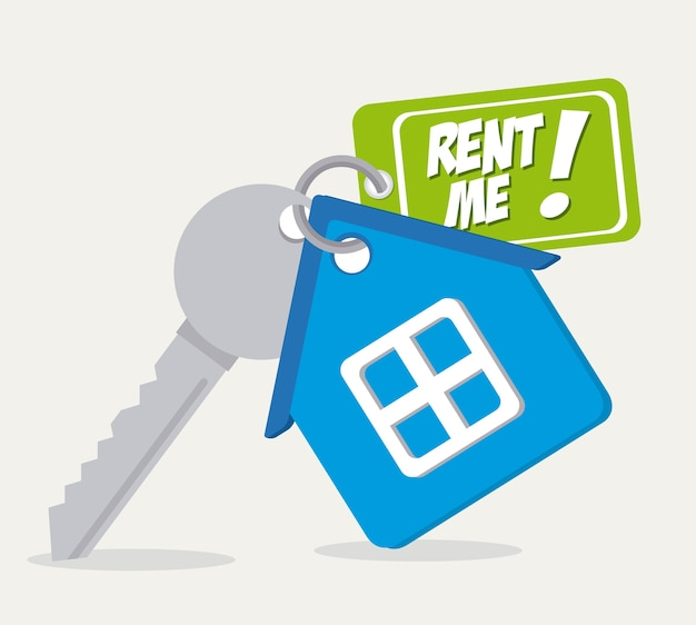 Design Immobilier Vecteur Premium