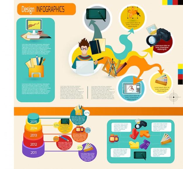 Design infographics set Vecteur gratuit