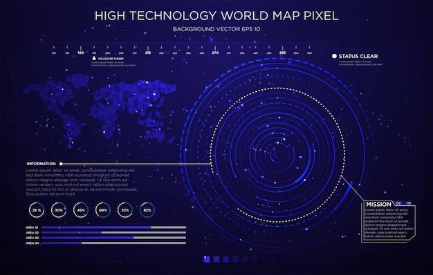 Design d'interface technologie fond d'écran Vecteur Premium