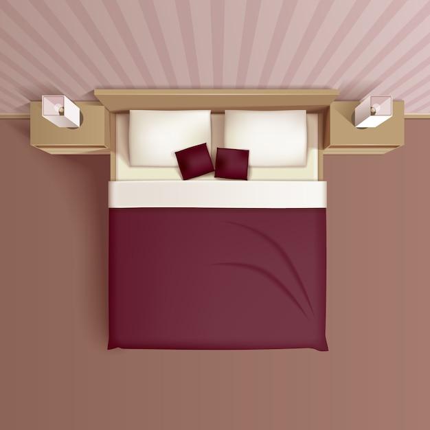 Design d'intérieur de chambre familiale classique Vecteur gratuit