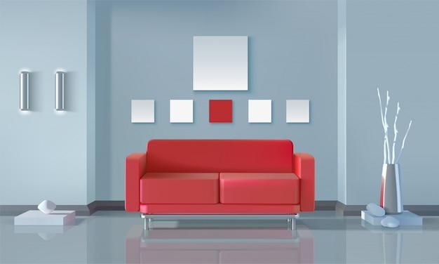 Design d'intérieur moderne Vecteur gratuit
