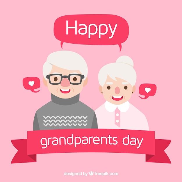 Design De Jour De Grands Grands Parents Vecteur gratuit
