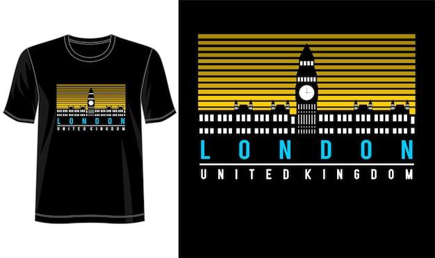 Design Londonien Pour T-shirt Imprimé Et Plus Vecteur Premium