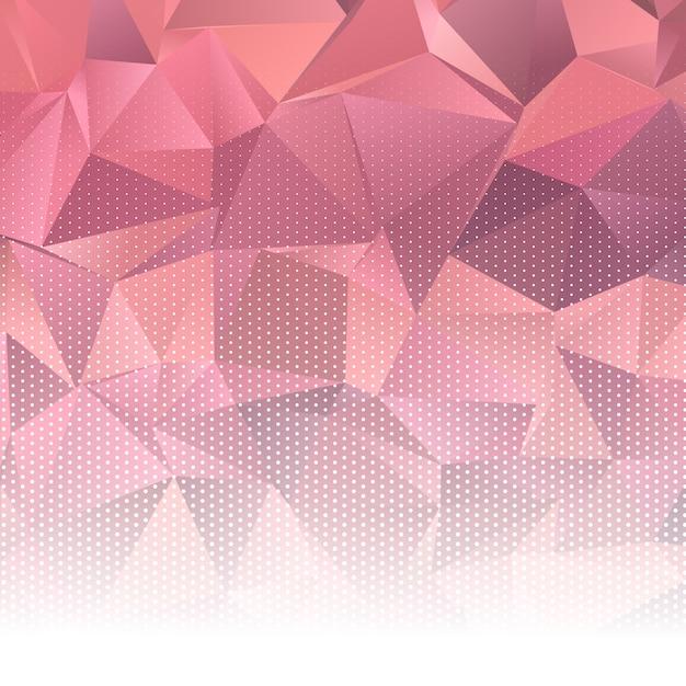 Design low poly abstrait avec des points de demi-teintes Vecteur gratuit