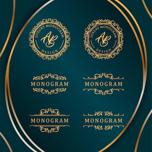 Design de luxe avec élégant fond bleu foncé Vecteur Premium