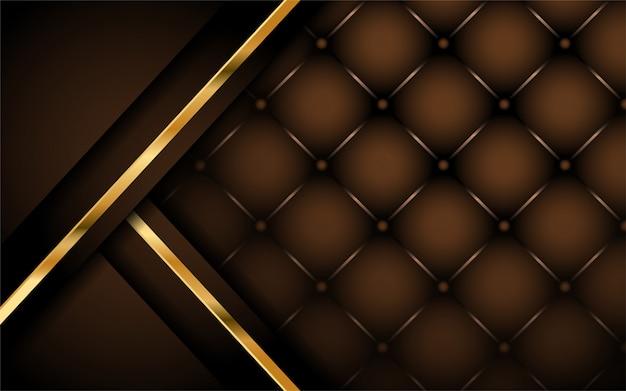 Design luxueux de fond marron foncé Vecteur Premium