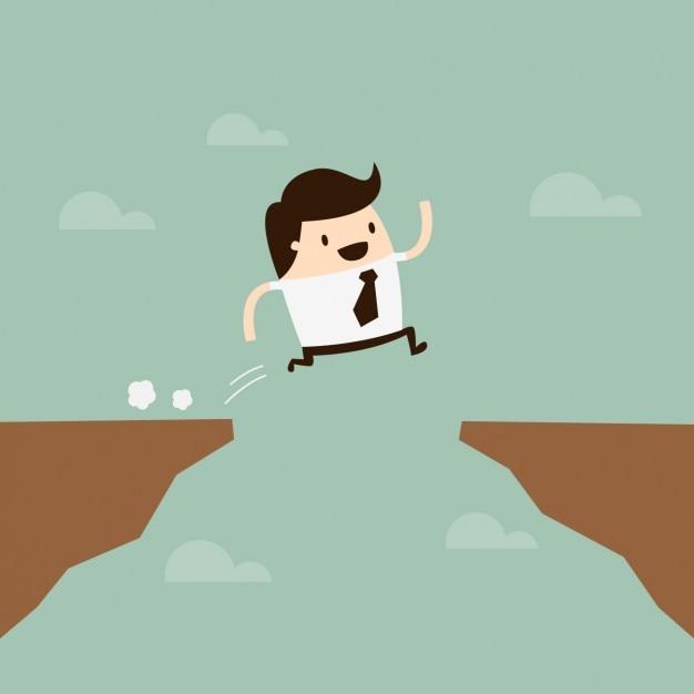 Design Man Jumping Vecteur gratuit