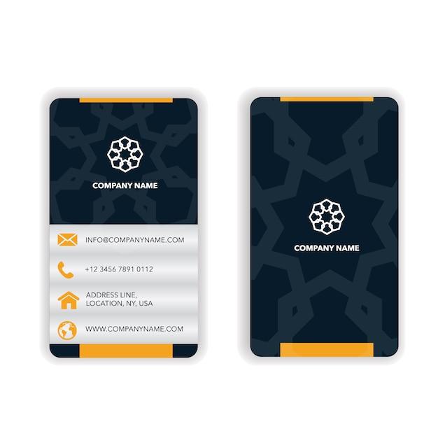 Design de mandala de carte de visite Vecteur gratuit