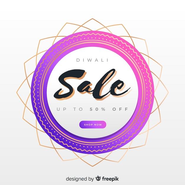 Design moderne abstrait pour les ventes de diwali Vecteur gratuit
