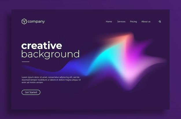 Design moderne minimaliste pour page de destination ou modèle web Vecteur Premium