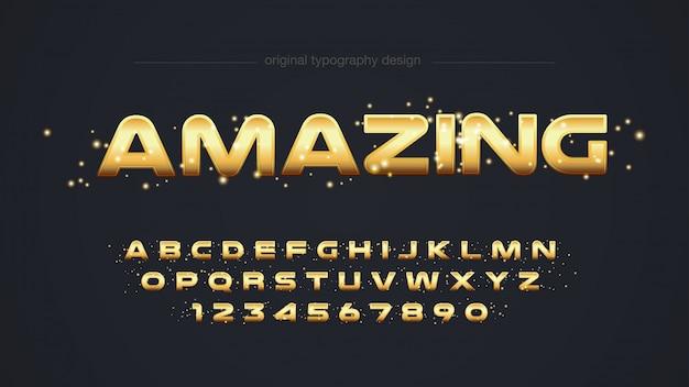 Design moderne de typographie dorée Vecteur Premium