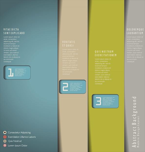 Design Moderne Vecteur Premium