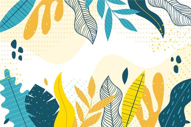 Design De Papier Peint Floral Design Plat Vecteur gratuit