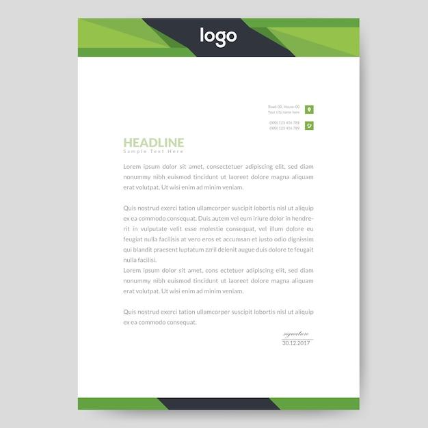 Design de papier à en-tête abstrait Vecteur Premium