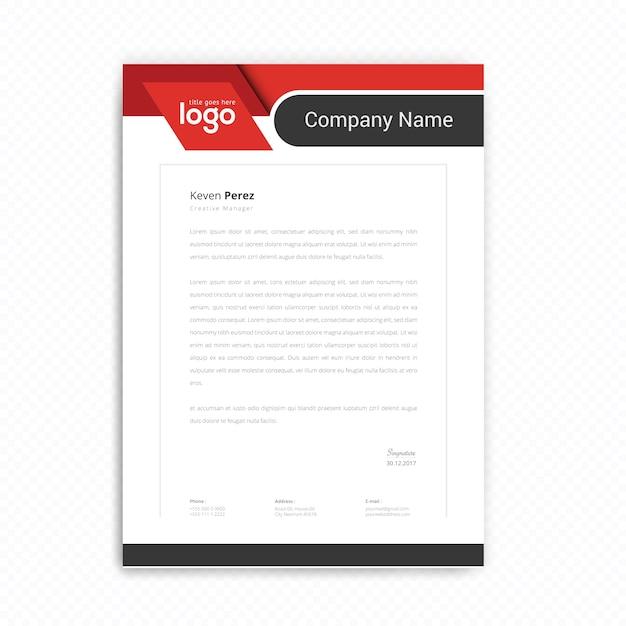 Design De Papier à En-tête Vecteur Premium