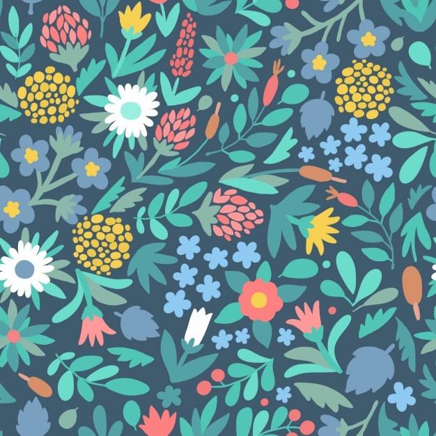 Design patern floral Vecteur gratuit
