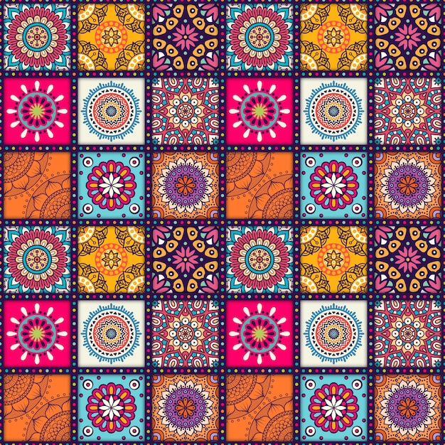 design pattern Mandala Vecteur gratuit