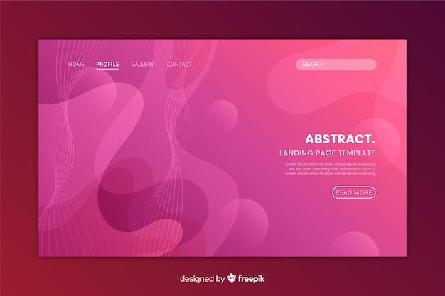 Design plat abstrait page d'atterrissage monochrome Vecteur gratuit