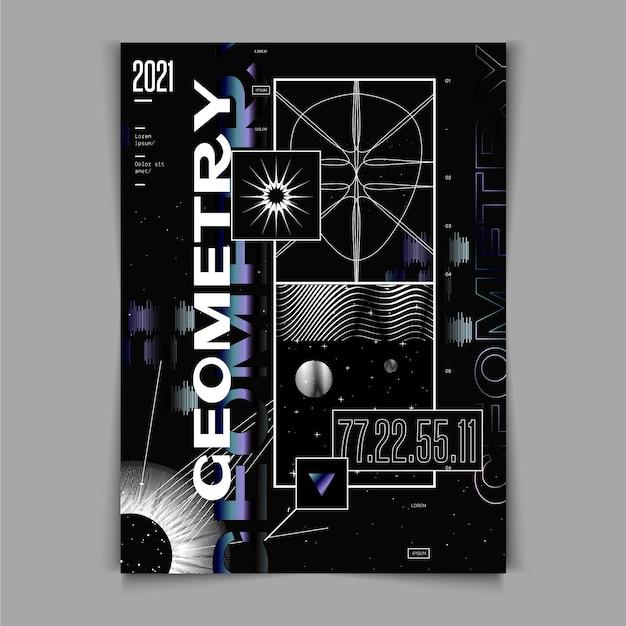 Design Plat De L'affiche Y2k Vecteur gratuit
