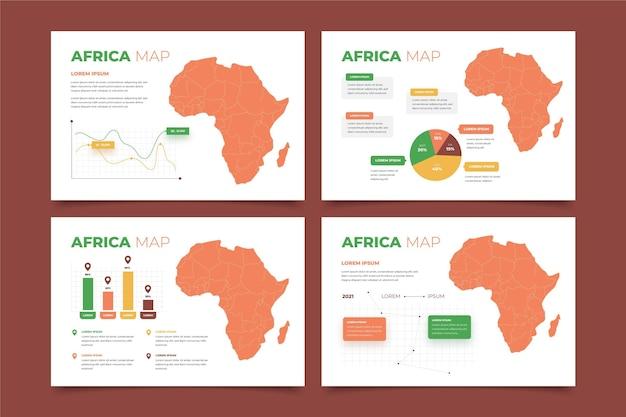 Design Plat Afrique Carte Infographique Vecteur Premium