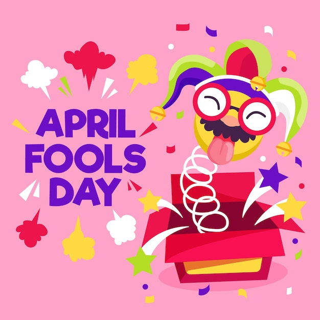 Design Plat Avril Fools Day Vecteur gratuit