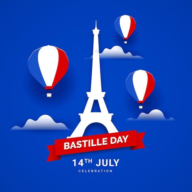 Design Plat Bastille Day Vecteur gratuit