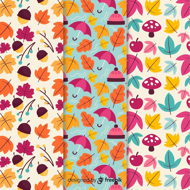Design plat de collection automne modèle coloré Vecteur gratuit