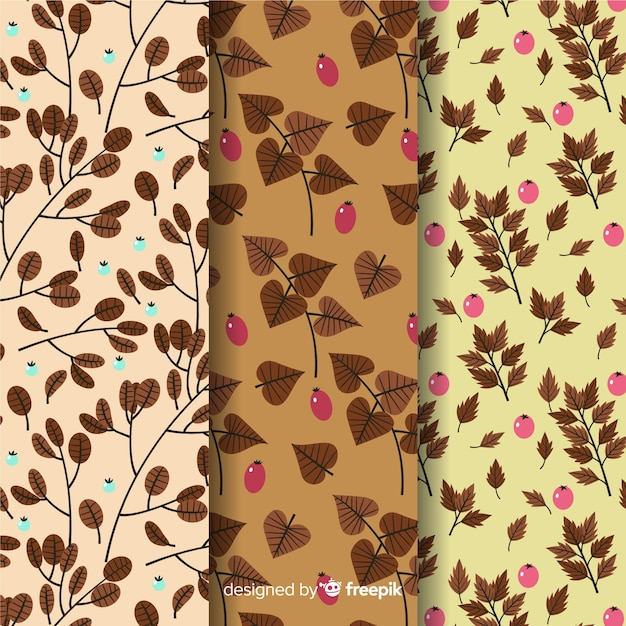 Design plat de collection automne Vecteur gratuit