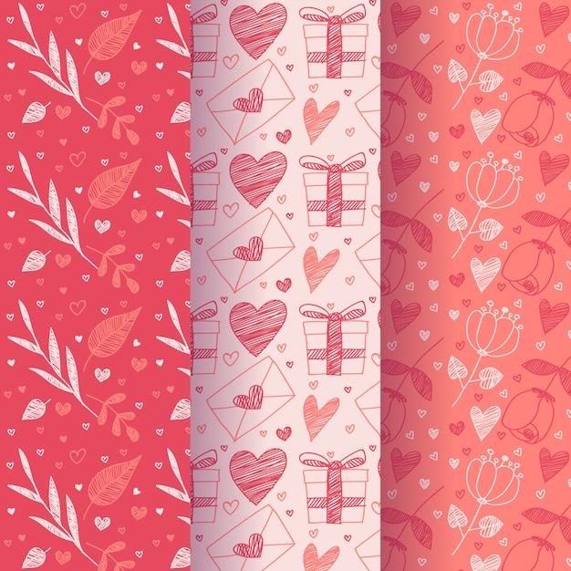 Design Plat Collection De Modèles De Saint Valentin Vecteur gratuit