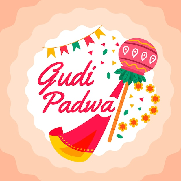 Design Plat Concept Gudi Padwa Vecteur gratuit